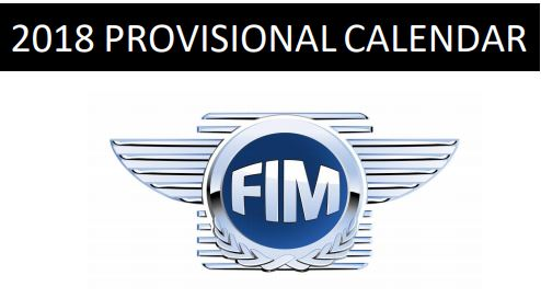 2018 FIM Asia Provisional Calendar