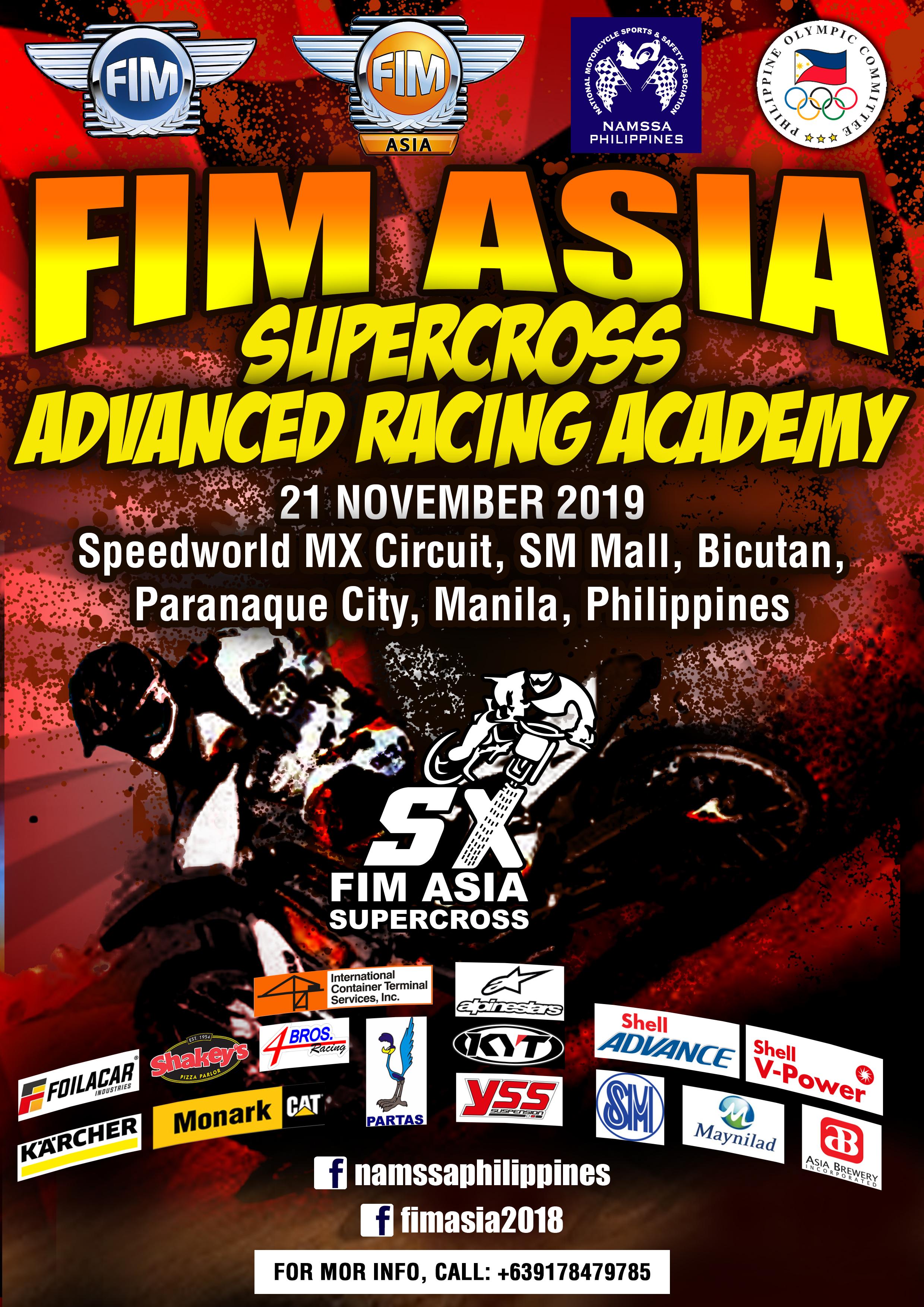 2019 FIM Asia Supercross Academy E-Poster
