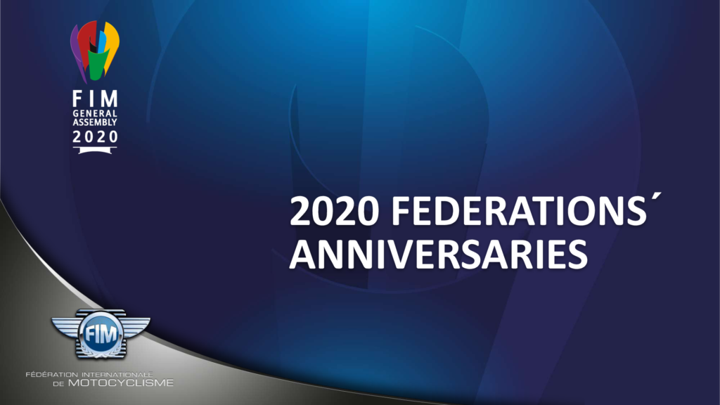 2020 Federations' Anniversaries
